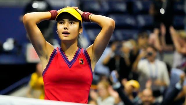 Emma Raducanu incrédule à l'US Open