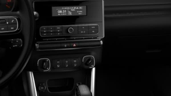 Sur la finition d'entrée de gamme, la clim' se règle manuellement. Ce qu'on ne retrouve pas sur la configuration avec écran tactile.