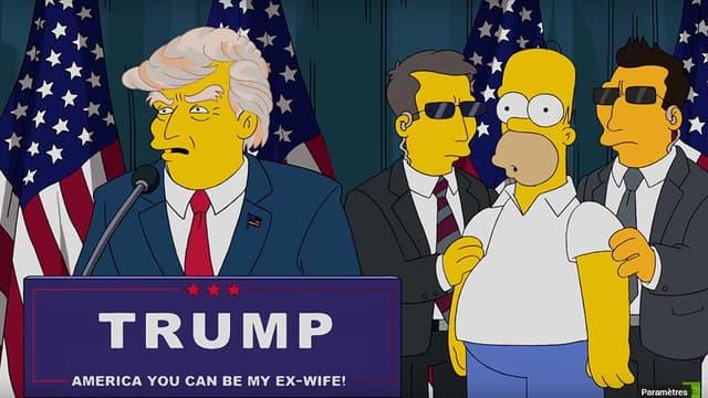 Donald Trump président, dans les Simpsons, en 2015.