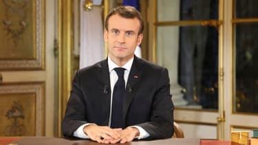 Emmanuel Macron, le 10 décembre.