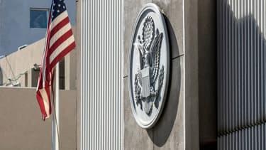 La façade de l'ambassade américaine à Tel Aviv.