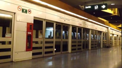 Quai d'une station de métro de Lille, le 5 novembre 2012 (photo d'illustration).