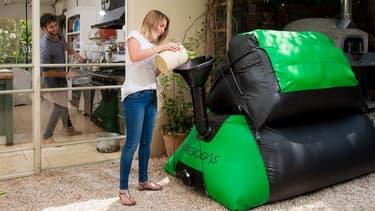 """HomeBiogas, une start-up israélienne, a conçu un """"digesteur"""" de biogaz de petite taille, adapté aux familles, qui se commande sur Internet."""