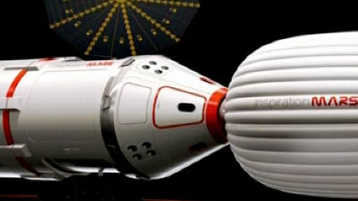 Le couple qui s'envelera vers Mars devra cohabiter un an et demi dans un module habitable gonflable, dont l'habitacle est à peu près de la taille d'un camping-car.