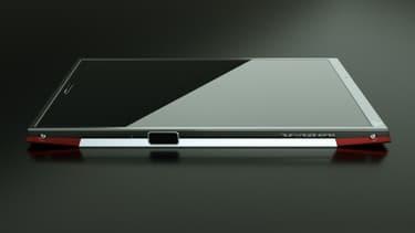 Le Turing Phone de Turing Robotic Industries est un smartphone ultra-sécurisé aussi bien d'un point de vue logiciel que matériel. Il est fabriqué en liquidmorphium, un alliage plus resistant que le titane.