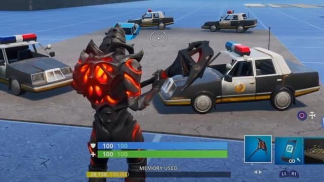 Fortnite a éliminé les voitures de police de son jeu.