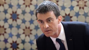 Manuel Valls s'est rendu à la mosquée de Strasbourg mardi.