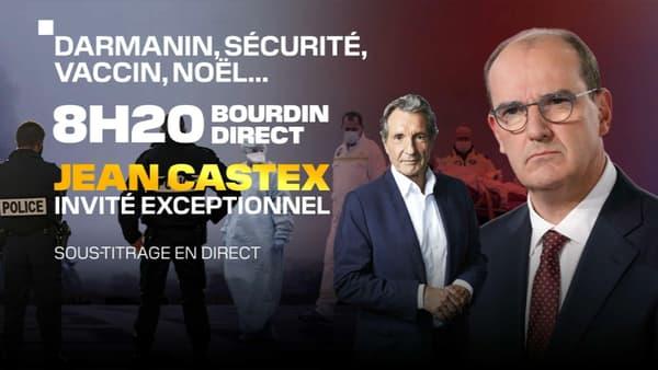 Jean Castex est l'invité de BFMTV-RMC le mercredi 2 décembre 2020.