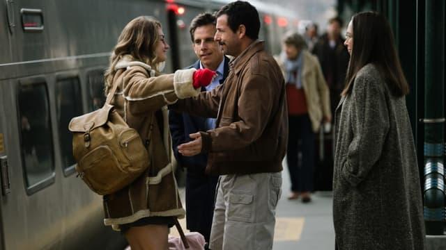 Grace van Patten, Ben Stiller et Adam Sandler dans 'The Meyerowitz stories'