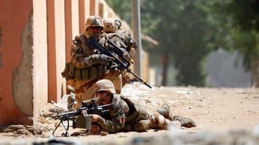 Des troupes françaises à Gao, au Mali, en février 2013.