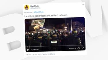 Plusieurs centaines de militants de Génération identitaire ont manifesté à Nice jeudi soir.