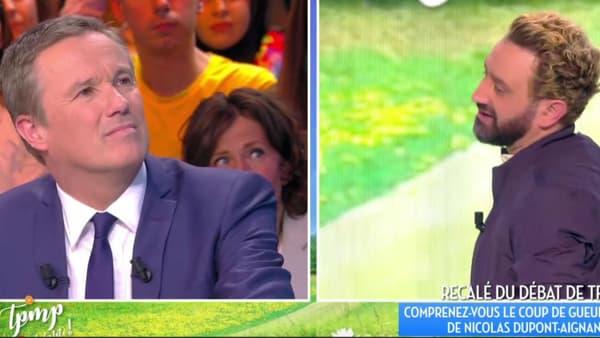 """Nicolas Dupont-Aignan sur le plateau de """"Touche pas à mon poste!"""", le 20 mars 2017"""