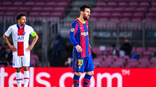Lionel Messi face au PSG