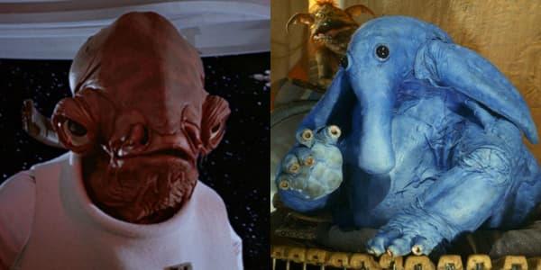 L'Amiral Ackbar et Max Rebo dans Star Wars: Le Retour du Jedi
