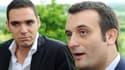 Le vice-président du FN, Florian Philippot, est venu soutenir Etienne Bousquet-Cassagne (à gauche sur la photo) le 19 juin à Villeneuve-sur-Lot.