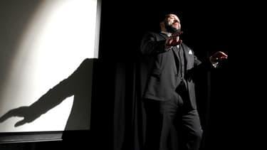 Dieudonné à l'avant-première de son film « Antisémite », le 15 janvier 2012.