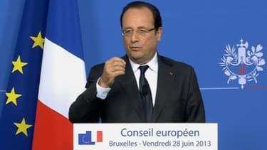 François Hollande à l'issue du Conseil euroépen de Bruxelles
