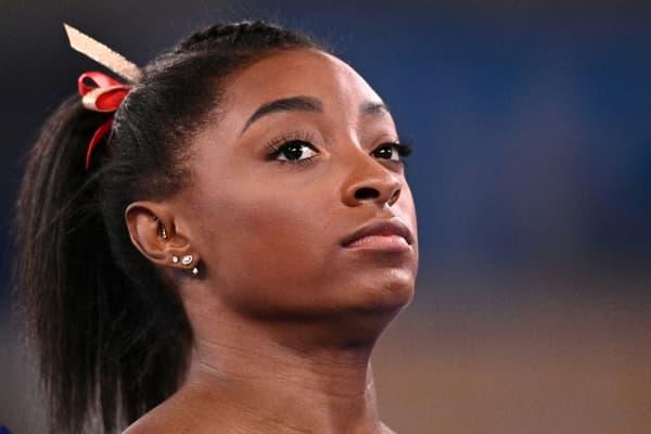 La gymnaste vedette Simone Biles sur le site olympique d'Ariake à Tokyo, le 25 juillet 2021