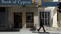 La façade d'une agence de la Bank of Cyprus à Nicosie