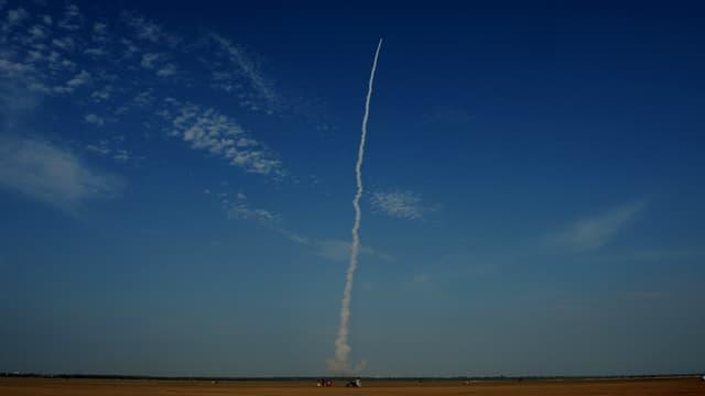 Lancement d'une fusée transportant des satellites à Sriharikota, en Inde, le 8 septembre 2016 (photo d'illustration).