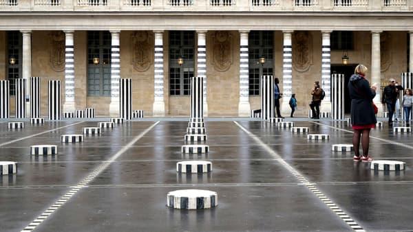 The Buren columns at the Palais-Royal in Paris.