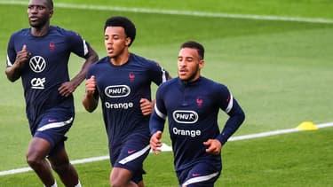Moussa Sissoko, Jules Koundé et Corentin Tolisso
