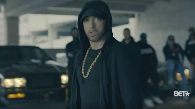 """Eminem s'en prend au président américain Donald dans un freestyle baptisé """"The Storm"""""""