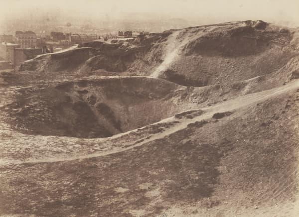 """Les """"carrières d'Amérique"""", ici en 1852, étaient situées à l'emplacement actuel du parc des Buttes-Chaumont."""