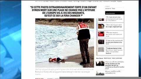 La photo d'un enfant migrant mort pour choquer et interpeller sur le sort des migrants