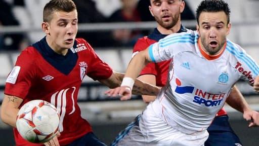 Mathieu Valbuena, dimanche soir face à Lille en championnat de Ligue 1