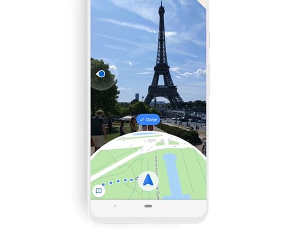 Google Maps passe à la réalité augmentée sur mobile.