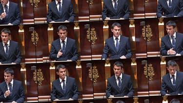 Manuel Valls lors du débat sur l'intervention des forces françaises en Irak mercredi.