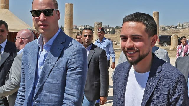Le prince William et le prince de Jordanie Hussein Bin Abdullah.
