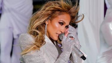 Jennifer Lopez lors de son concert à Times Square à New York, le 31 décembre 2020