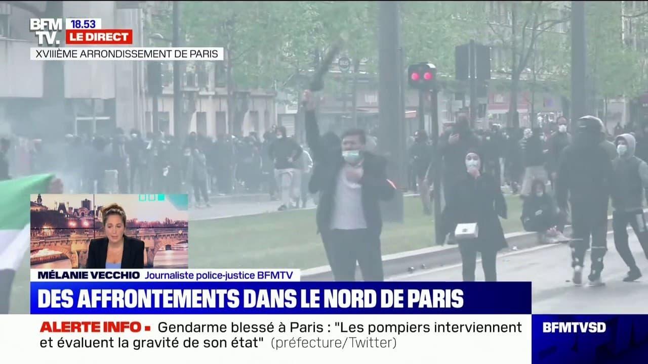 Manifestation pro-Palestine à Paris : des violences au moment de la dispersion des manifestants, un gendarme blessé à la tête