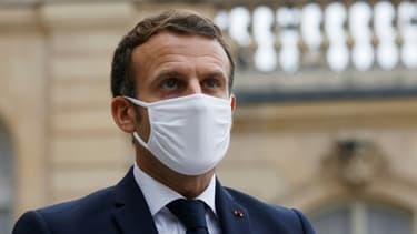 Le président Emmanuel Macron, le é8 octobre 2020 à l'Elysée, à Paris