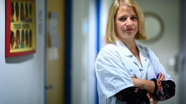 La Pr Karine Lacombe, cheffe de service des maladies infectieuses à l'hôpital Saint-Antoine à Paris, le 10 novembre 2020