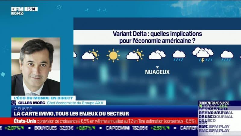 Gilles Moëc (AXA) : L'économie américaine face au variant Delta - 29/07