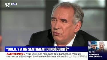 """François Bayrou sur l'insécurité: """"On ne peut pas supporter de vivre comme ça"""""""