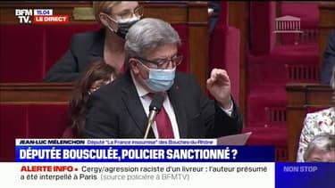 """Jean-Luc Mélenchon (LFI) demande au gouvernement """"à mettre le holà"""" après les violences contre la députée Bénédict Taurine"""