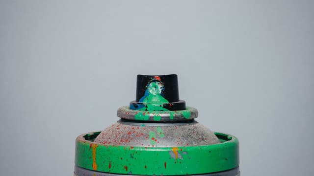 Image d'illustration - Bombe de peinture verte