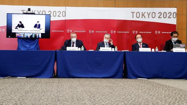 Conférence de presse sur les JO de Tokyo tenue le 18 novembre