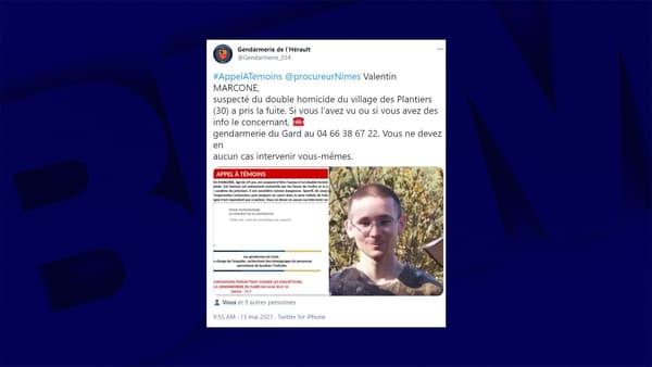 L'appel à témoins lancé ce jeudi pour tenter de retrouver le fugitif des Cévennes.