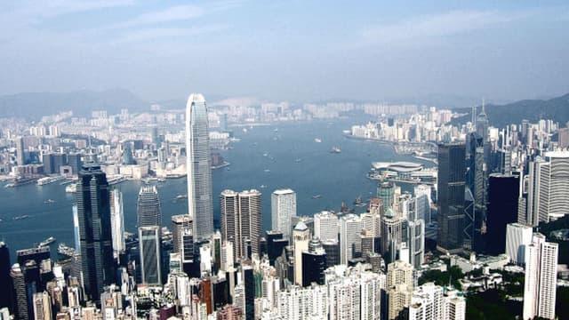 Vue aérienne de Victoria Peak, à Hong Kong
