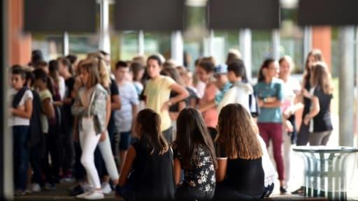 La rentrée des classes dans un collège de Saint-Lys, près de Toulouse, le 5 septembre 2017