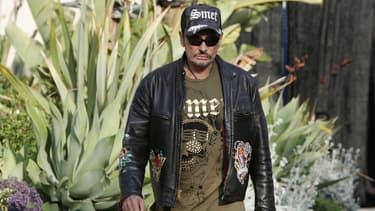 Le chanteur Johnny Hallyday arrive à un concert privé à Los Angeles, le 25 mai 2007.