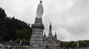 Des pèlerins catholiques à Lourdes le 15 août 2017.
