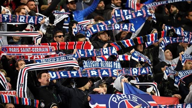 Les supporters du Collectif Ultras Paris