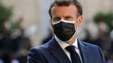 Le président français Emmanuel Macron à l'Elysée, le 10 juin 2021 à Paris