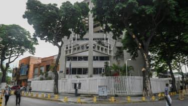 Vue générale de l'ambassade de France à Caracas, le 5 juin 2020